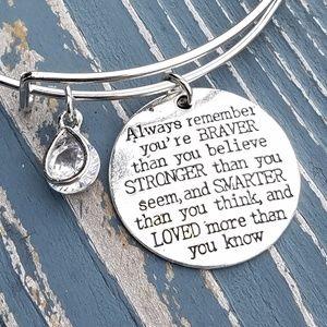 Jewelry - Charm bracelet, friend bracelet, brave, smart